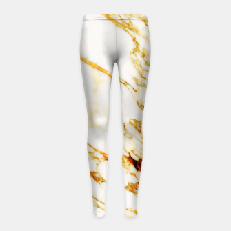 Thumbnail image of Gold Marble Girl's Leggings, Live Heroes