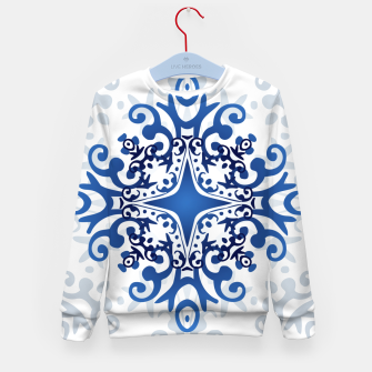 Thumbnail image of Blue Decorative Design Kid's Sweater, Live Heroes