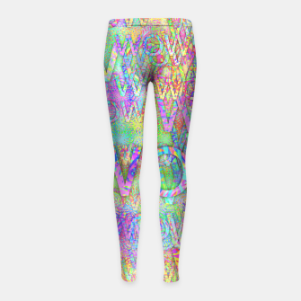 Thumbnail image of wow Girl's Leggings, Live Heroes