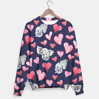 Thumbnail image of Elephant lover Sweater, Live Heroes