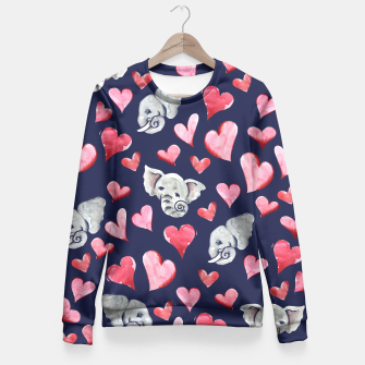 Thumbnail image of Elephant lover Fitted Waist Sweater, Live Heroes