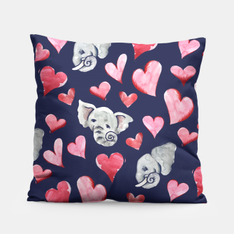 Thumbnail image of Elephant lover Pillow, Live Heroes