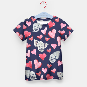 Thumbnail image of Elephant lover Kid's T-shirt, Live Heroes