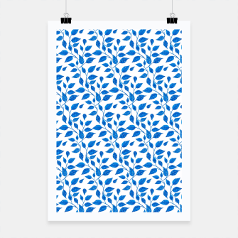 Thumbnail image of blue leaf pattern over white Poster, Live Heroes
