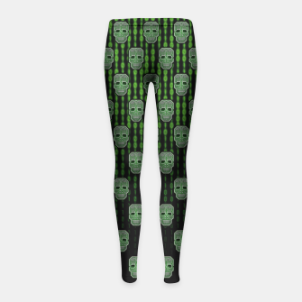 Thumbnail image of Homo Hacker (pattern version) Leggings para niña, Live Heroes