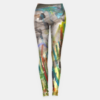 Thumbnail image of feminist women Leggings, Live Heroes