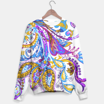 Thumbnail image of Paisley flower hand drawing illustration Sweater, Live Heroes
