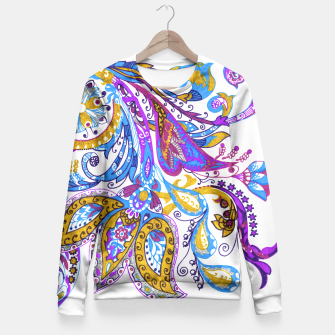 Miniature de image de Paisley flower hand drawing illustration Fitted Waist Sweater, Live Heroes