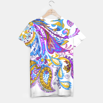 Thumbnail image of Paisley flower hand drawing illustration T-shirt, Live Heroes