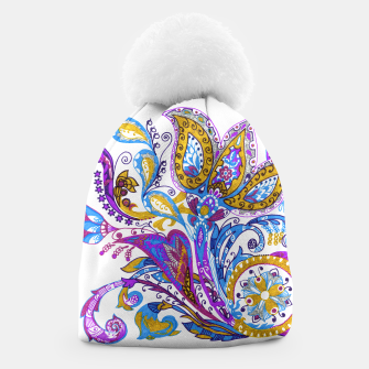 Thumbnail image of Paisley flower hand drawing illustration Beanie, Live Heroes