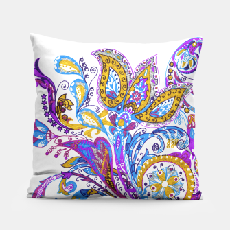 Thumbnail image of Paisley flower hand drawing illustration Pillow, Live Heroes