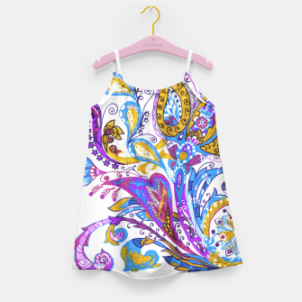 Thumbnail image of Paisley flower hand drawing illustration Girl's Dress, Live Heroes