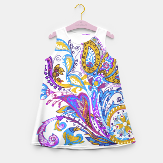 Thumbnail image of Paisley flower hand drawing illustration Girl's Summer Dress, Live Heroes
