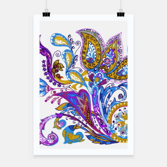 Thumbnail image of Paisley flower hand drawing illustration Poster, Live Heroes