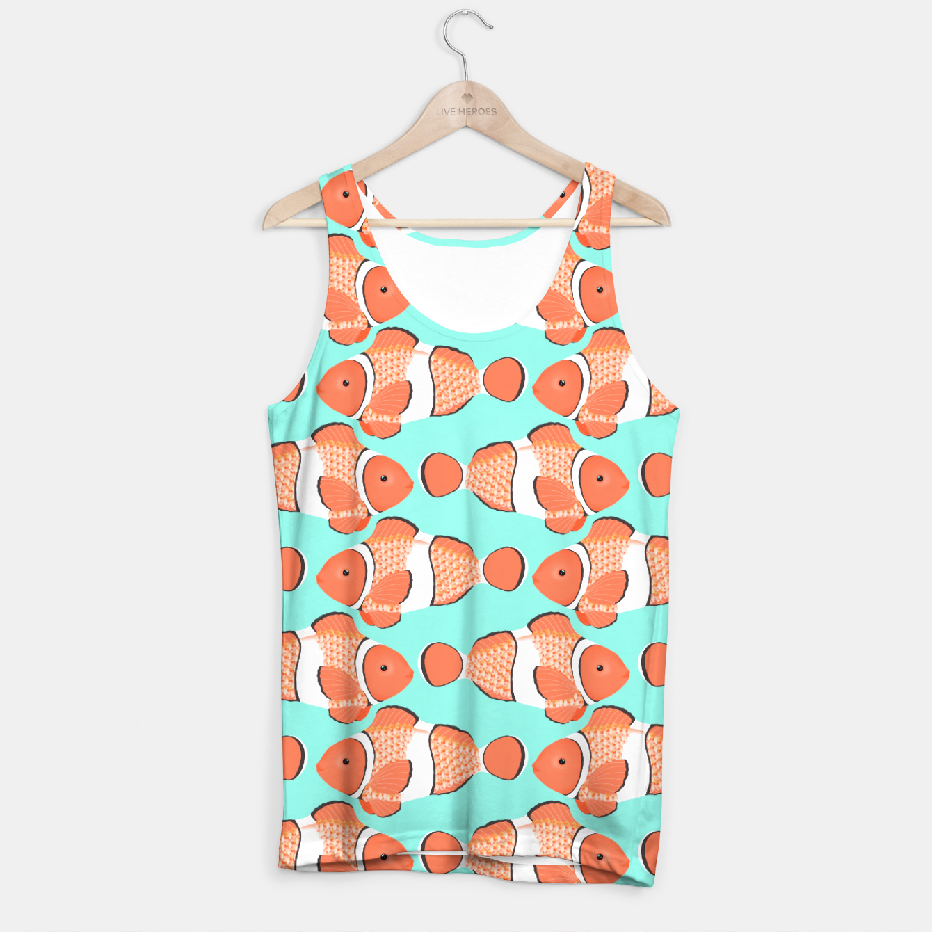 Clown fish mandarin garnet tank top live heroes for Fish tank top
