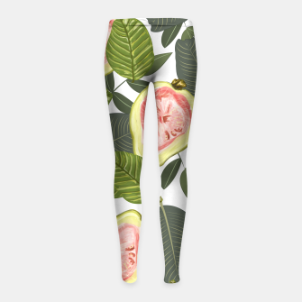 Thumbnail image of Guava Girl's Leggings, Live Heroes