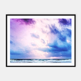 Thumbnail image of Cloudy shores Framed poster, Live Heroes