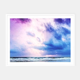 Cloudy shores Framed poster thumbnail image