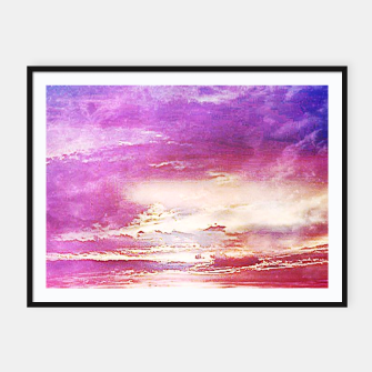 Thumbnail image of Sunset skies Framed poster, Live Heroes