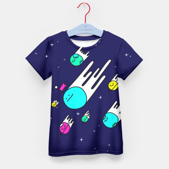 Thumbnail image of Planet Fluffers Kid's T-shirt, Live Heroes