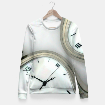 Thumbnail image of Distorted time - surrealist painting Fitted Waist Sweater, Live Heroes
