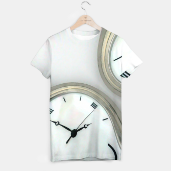 Thumbnail image of Distorted time - surrealist painting T-shirt, Live Heroes