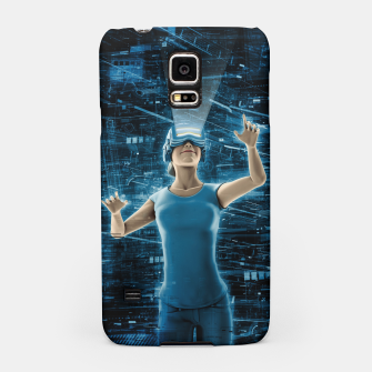 Thumbnail image of Virtual Reality User Woman Samsung Case, Live Heroes
