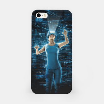 Thumbnail image of Virtual Reality User Woman iPhone Case, Live Heroes