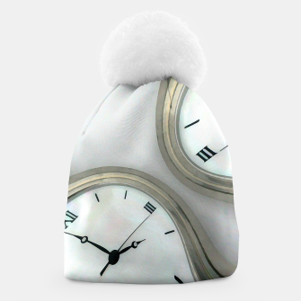Thumbnail image of Distorted time - surrealist painting Beanie, Live Heroes