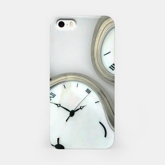 Thumbnail image of Distorted time - surrealist painting iPhone Case, Live Heroes
