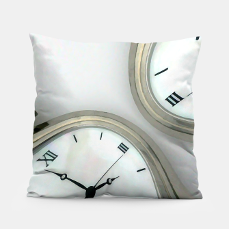 Thumbnail image of Distorted time - surrealist painting Pillow, Live Heroes