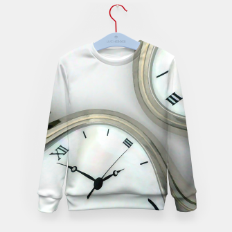 Thumbnail image of Distorted time - surrealist painting Kid's Sweater, Live Heroes