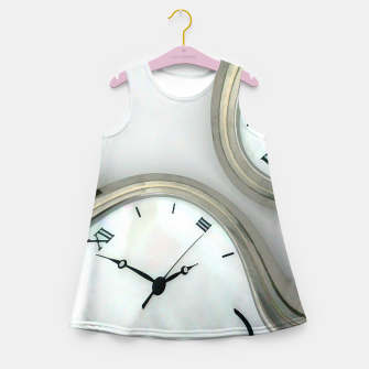 Thumbnail image of Distorted time - surrealist painting Girl's Summer Dress, Live Heroes