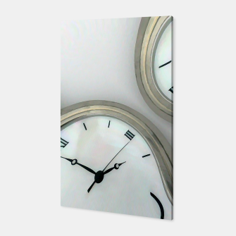 Thumbnail image of Distorted time - surrealist painting Canvas, Live Heroes