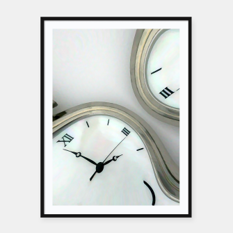 Thumbnail image of Distorted time - surrealist painting Framed poster, Live Heroes