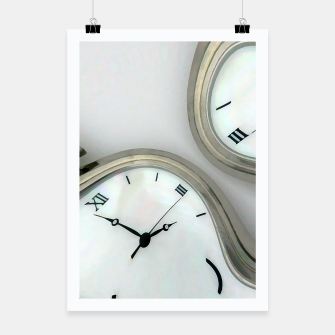 Thumbnail image of Distorted time - surrealist painting Poster, Live Heroes