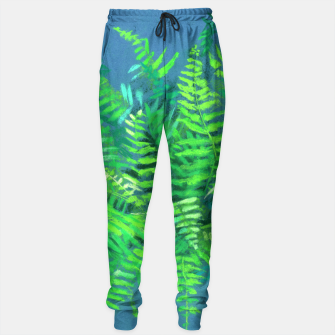 Thumbnail image of Fern, floral art, blue & green, summer greenery Sweatpants, Live Heroes