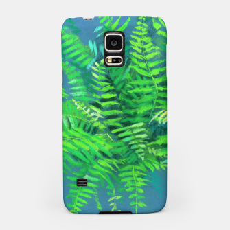Thumbnail image of Fern, floral art, blue & green, summer greenery Samsung Case, Live Heroes