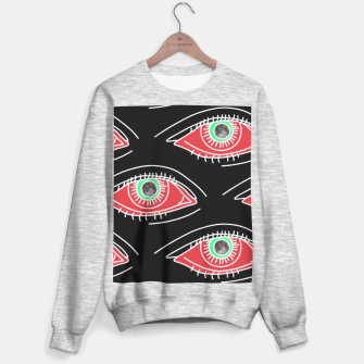Thumbnail image of Moon eyes black pattern Sudadera Regular, Live Heroes