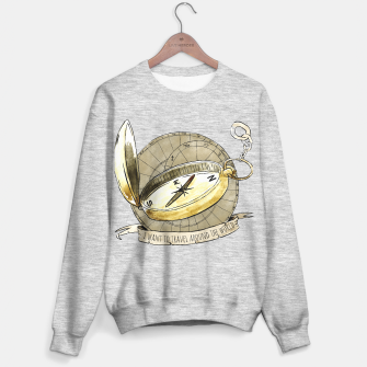 Thumbnail image of Wanderlust to Travel Around the World Sweater regular, Live Heroes