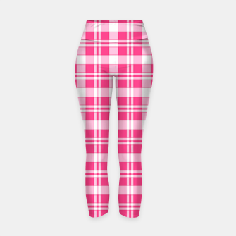 Thumbnail image of Red and White Tarten Yoga Pants, Live Heroes