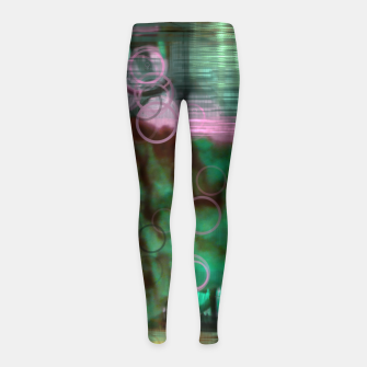 Thumbnail image of Nightmare Glitch Girl's Leggings, Live Heroes