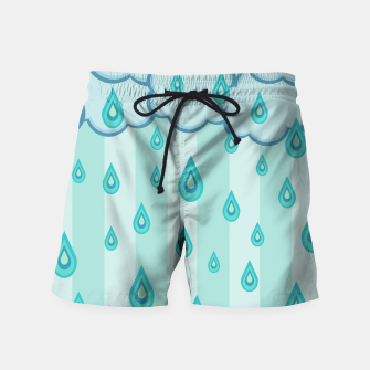Thumbnail image of Stripes and Raindrops Swim Shorts, Live Heroes