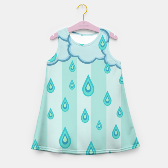 Thumbnail image of Stripes and Raindrops Girl's Summer Dress, Live Heroes