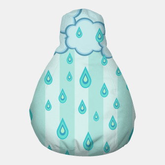 Thumbnail image of Stripes and Raindrops Pouf, Live Heroes