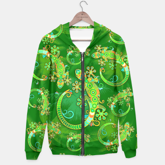 Gecko Lizard Colorful Tattoo Style Hoodie thumbnail image