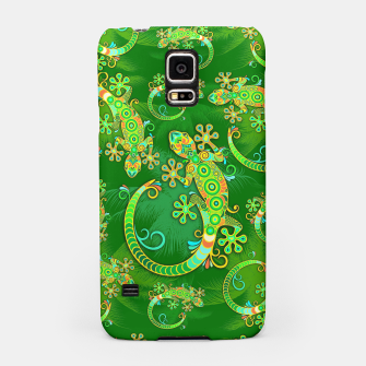 Gecko Lizard Colorful Tattoo Style Samsung Case thumbnail image