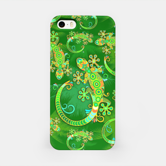 Gecko Lizard Colorful Tattoo Style iPhone Case thumbnail image