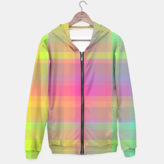 Thumbnail image of Bright Check Hoodie, Live Heroes