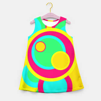 Thumbnail image of Bright Circles Girl's Summer Dress, Live Heroes